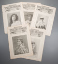 Prints:Contemporary, Group of Approximately 140 Miscellaneous Theater and DramaNewspaper Prints. Circa 1890. Each measures approximately 15-3/4...
