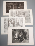 Prints:Contemporary, Group of Approximately 190 Etchings and Engravings. Circa 1880.Various sizes, the largest measuring 12.75 x 18.5 inches. Ed...