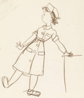 Animation Art:Concept Art, The Reluctant Dragon Baby Weems Nurse Model/CharacterDevelopment Drawing (Walt Disney, 1941)....