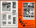 "Movie Posters:Science Fiction, Them! (Warner Brothers, 1954). Uncut Pressbook (20 Pages, 11"" X17""). Science Fiction.. ..."