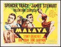 "Movie Posters:Adventure, Malaya (MGM, 1949). Half Sheet (22"" X 28"") Style A. Adventure.. ..."