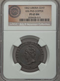 Liberia, Liberia: Republic Proof Pattern Cent in copper 1862 PR63 BrownNGC,...