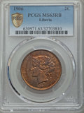 Liberia, Liberia: Republic 2 Cents 1906-H MS63 Red and Brown PCGS,...