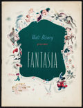 """Movie Posters:Animation, Fantasia (RKO, 1940). Program (Multiple Pages, 9.5"""" X 12.5"""").Animation.. ..."""