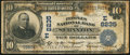 National Bank Notes:Pennsylvania, Scranton, PA - $10 1902 Date Back Fr. 617 The Peoples NB Ch. # (E)8235. ...