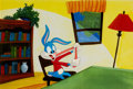 Animation Art:Production Cel, Tiny Toon Adventures Buster Bunny Production Cel (WarnerBros, c. 1990)....