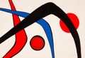 Fine Art - Work on Paper:Print, Alexander Calder (American, 1898-1976). Les trois arches.Lithograph in colors. 29-1/2 x 43-1/4 inches (74.9 x 109.9 cm)...