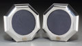 Silver Holloware, Continental, A Pair of Gucci Silver Picture Frames, 20th century. Marks:STERLING, ITALY, GUCCI, (star-215-FL). 4-3/4 inches high(12... (Total: 2 Items)