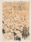 Prints, Mina Tang Kan (Chinese, 20th Century). Mesa Verde. Lithograph. 14 x 10-1/4 inches (35.6 x 26.0 cm) (sheet). Signed, titl...