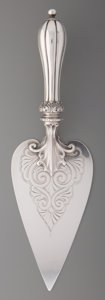 Silver Holloware, British, An Edward, John, & William Barnard Silver Presentation Spade,London, England, circa 1847. Marks: (lion passant), (leopard's...