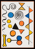 Prints, Alexander Calder (American, 1898-1976). Os et serpent. Lithograph in colors on Rives BFK paper. 29-1/2 x 21-1/4 inches (...