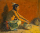 Eanger Irving Couse (American, 1866-1936) The Pottery Connoisseur, circa 1930 Oil on canvas 20 x 24 inches (50.8 x 61...