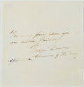 Autographs:Military Figures, Admiral George Dewey: Autograph Quotation Signed....