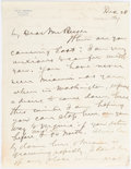 Autographs:Statesmen, William Jennings Bryan: 2-pg. Autograph Letter Signed....