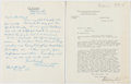 Autographs:Statesmen, [Warren G. Harding]: Attorney General Harry Daugherty SignedLetters.... (Total: 2 Items)