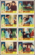 """Movie Posters:Thriller, Spy in the Sky! (Allied Artists, 1958). Lobby Card Set of 8 (11"""" X 14""""). Thriller.. ... (Total: 8 Items)"""