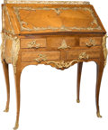 Furniture : French, A Louis XVI-Style Kingwood and Gilt Bronze-Mounted Escritoire, 19thcentury. 40-1/4 h x 32 w x 18 d inches (102.2 x 81.3 x 4...