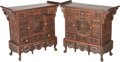 Asian:Chinese, A Pair of Chinese Carved Rosewood Table Cabinets, 20th century.24-1/8 h x 26-3/4 w x 11-3/8 d inches (61.3 x 67.9 x 28.9 cm...(Total: 2 Items)