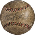 Baseball Collectibles:Balls, 1927 Babe Ruth & Lou Gehrig Signed Home Run Baseball fromExhibition Game. ...