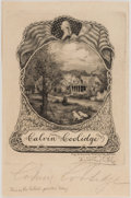Autographs:U.S. Presidents, Calvin Coolidge Signed Bookplate....