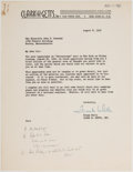 Autographs:U.S. Presidents, John F. Kennedy: Handwritten Notes for 1952 TV Appearance....