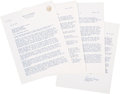 Autographs:U.S. Presidents, Ronald Reagan: 4-pg. Typed Letter Signed as Governor....