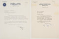 Autographs:Celebrities, J. Edgar Hoover: Pair of Typed Letters Signed.... (Total: 2 Items)