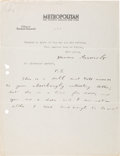 Autographs:U.S. Presidents, Theodore Roosevelt Partial Typed Letter Signed with HolographicPostscript....