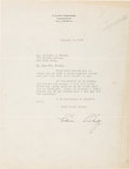 Autographs:U.S. Presidents, Calvin Coolidge Typed Letter Signed....