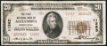 National Bank Notes:Pennsylvania, Alexandria, PA - $20 1929 Ty. 2 The First NB Ch. # 11263. ...