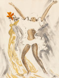 Works on Paper, Marcel Vertès (Hungarian, 1895-1961). French Dancers. Watercolor and ink on paper. 25-1/4 x 19-1/4 inches (64.1 x 48.9 c...