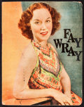 """Movie Posters:Miscellaneous, Fay Wray (1920s-1970s). Scrapbook (Multiple Pages, 9"""" X 11.5"""") withAutographed Card (3"""" X 5""""). Miscellaneous.. ..."""