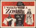 """Movie Posters:Horror, I Walked with a Zombie (RKO, R-1956). Half Sheet (22"""" X 28""""). Horror.. ..."""