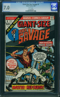 Giant-Size Doc Savage #1 (Marvel, 1975) CGC FN/VF 7.0 White pages