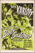 """Movie Posters:Horror, The Body Snatcher (RKO, R-1952). One Sheet (27"""" X 41""""). Horror.. ..."""