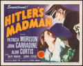 "Movie Posters:War, Hitler's Madman (MGM, 1943). Title Lobby Card (11"" X 14""). War....."