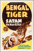 """Movie Posters:Adventure, Bengal Tiger (Warner Brothers, 1936). One Sheet (27"""" X 41"""").Adventure.. ..."""