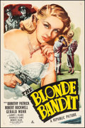 """Movie Posters:Crime, The Blonde Bandit (Republic, 1950). One Sheet (27"""" X 41""""). Crime....."""