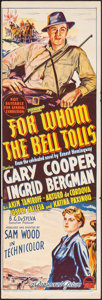 """Movie Posters:War, For Whom the Bell Tolls (Paramount, 1945). Australian Daybill (10""""X 30""""). War.. ..."""