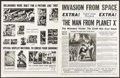 """Movie Posters:Science Fiction, The Man from Planet X (United Artists, 1951). Uncut Pressbook (8Pages, 17"""" X 22""""). Science Fiction.. ..."""