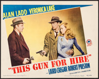"This Gun for Hire (Paramount, R-1945). Lobby Card (11"" X 14""). Film Noir"