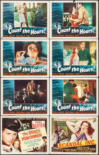 "Count the Hours & Others Lot (RKO, 1953). Lobby Cards (27) & Title Lobby Cards (2) (11"" X 14"")..."