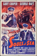 """Movie Posters:Adventure, Souls at Sea (Paramount, R-1943). One Sheet (27"""" X 41"""").Adventure.. ..."""