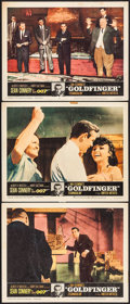 """Movie Posters:James Bond, Goldfinger (United Artists, 1964). Lobby Cards (3) (11"""" X 14"""").James Bond.. ... (Total: 3 Items)"""