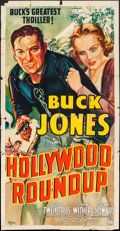 """Movie Posters:Western, Hollywood Roundup (Columbia, 1937). Three Sheet (41"""" X 79""""). Western.. ..."""