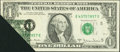 Error Notes:Foldovers, Fr. 1910-E $1 1977A Federal Reserve Note. Very Fine-ExtremelyFine.. ...