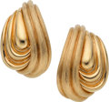 Estate Jewelry:Earrings, Gold Earrings, Henry Dunay. ... (Total: 2 Items)