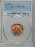 Lincoln Cents: , 1953 1C MS66 Red PCGS. PCGS Population: (494/18). NGC Census: (888/24). Mintage 256,883,808. ...