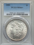 1880 $1 MS64+ PCGS. PCGS Population: (5031/1537 and 193/107+). NGC Census: (5122/745 and 90/13+). CDN: $105 Whsle. Bid f...