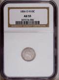 Seated Half Dimes: , 1856-O H10C AU55 NGC. NGC Census: (11/51). PCGS Population(4/28).Mintage: 1,100,000. Numismedia Wsl. Price: $240. (#4364)...